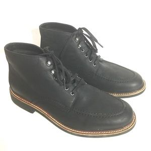 Bostonian Walker Black Leather Mens Ankle Boots 12